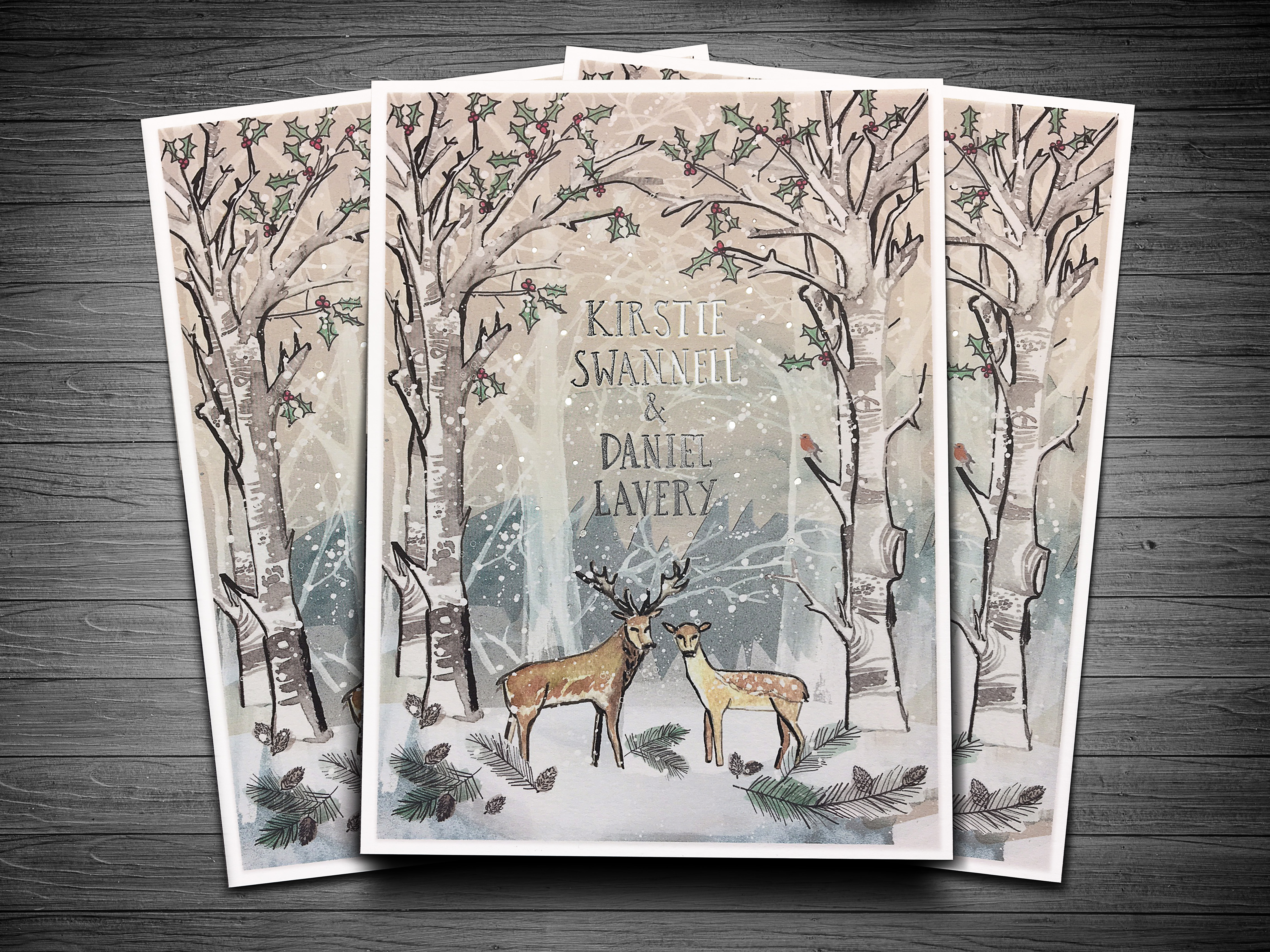 Kirstie & Daniel Wedding Invite